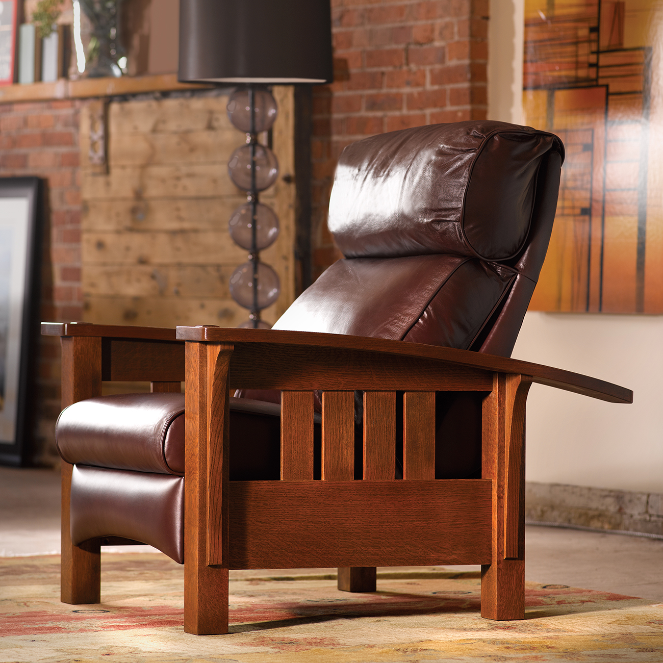 Bow Arm Morris Recliner