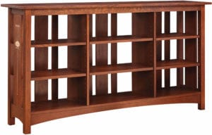 Slatted Back Bookcase