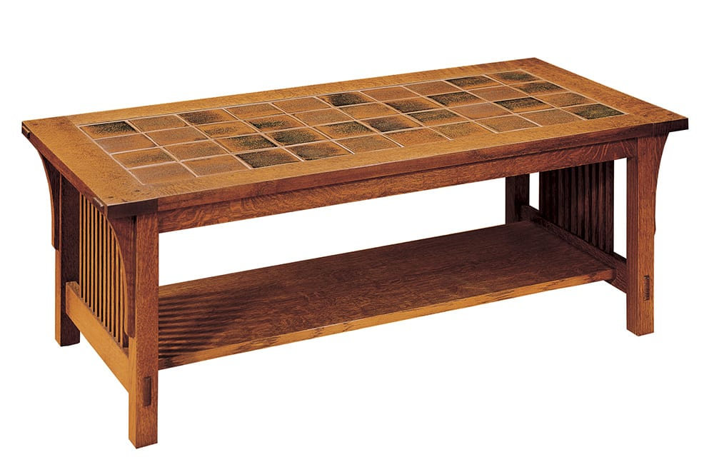 Tile Top Cocktail Table Mission Collection Stickley Furniture